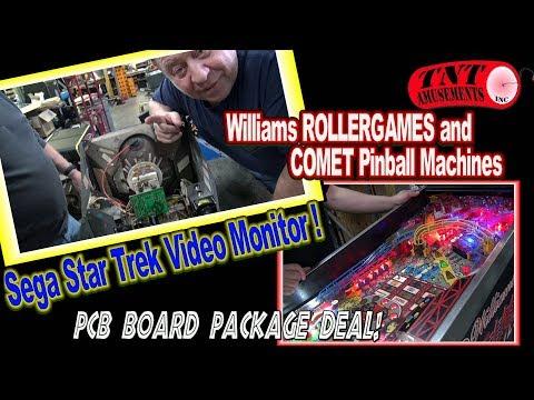 #1363 Williams ROLLER GAMES & COMET Pinball-Sega STAR TREK Video Game & Repair Tips!TNT Amusements