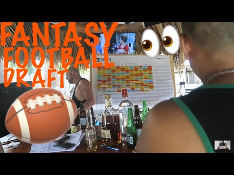 Fort Lauderdale Florida Vlog #8 / Fantasy Football Draft / Tiki West super fun Day Partying