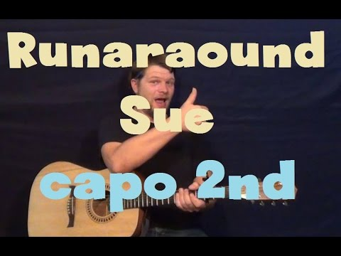 Runaround Sue (Dion) Easy Guitar Lesson How to Play Tutorial Capo ...