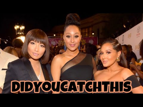 The Real Hosts Jeannie Mai and Adrienne Houghton Plucks Tamera Mowry Housley Hairy Mole 😩