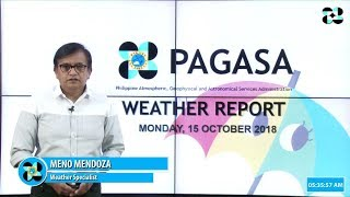 Public Weather Forecast Issued at 4:00 AM October 15, 2018