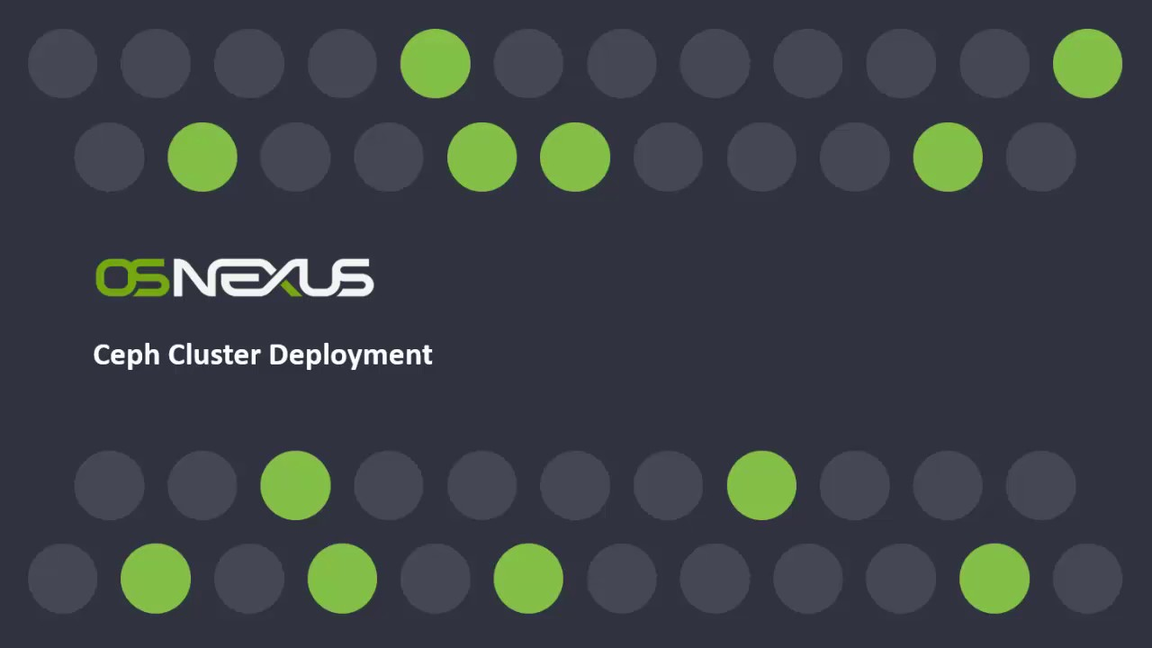 Deploy Ceph object storage in less than 10 minutes