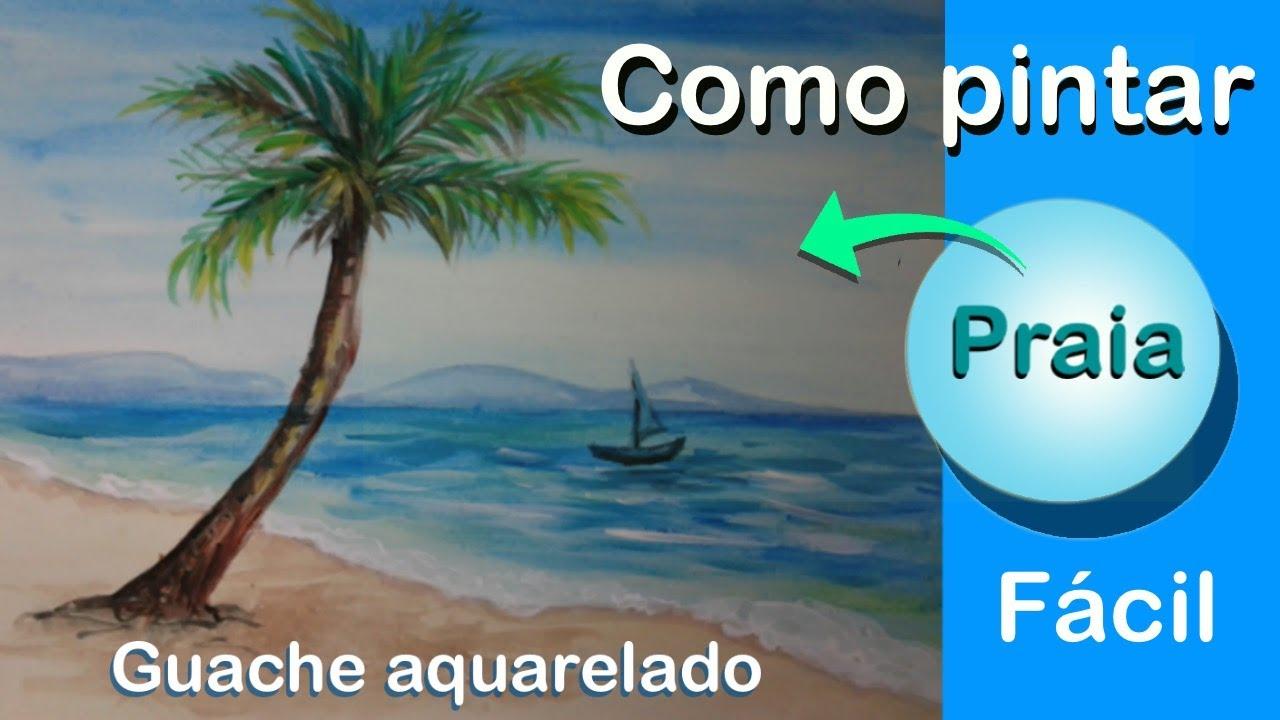 Pintando Uma Paisagem De Praia Youtube