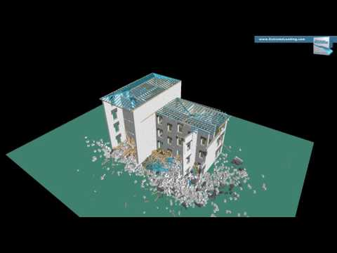 Structural Analysis of a Historic Building - Elements removal (explosion), Location 1