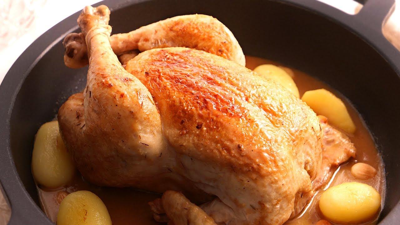Pollo en Salsa con Almendras fácil y muy delicioso