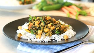 Chickpeas & Spinach Curry :: Amazing Taste & Nutritious