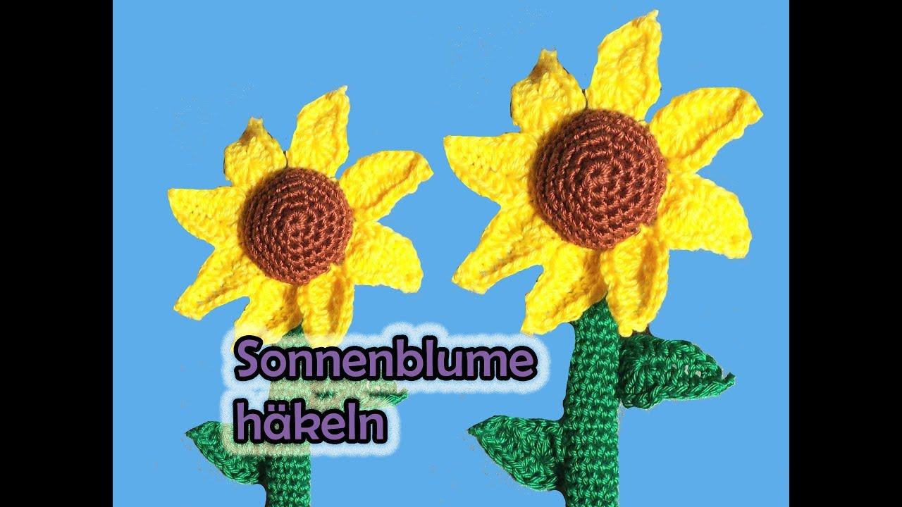 Sonnenblume Häkeln Romy Fischer Häkelanleitung Youtube