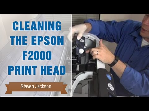 Replacing the Head Cleaning Set on Epson F2000