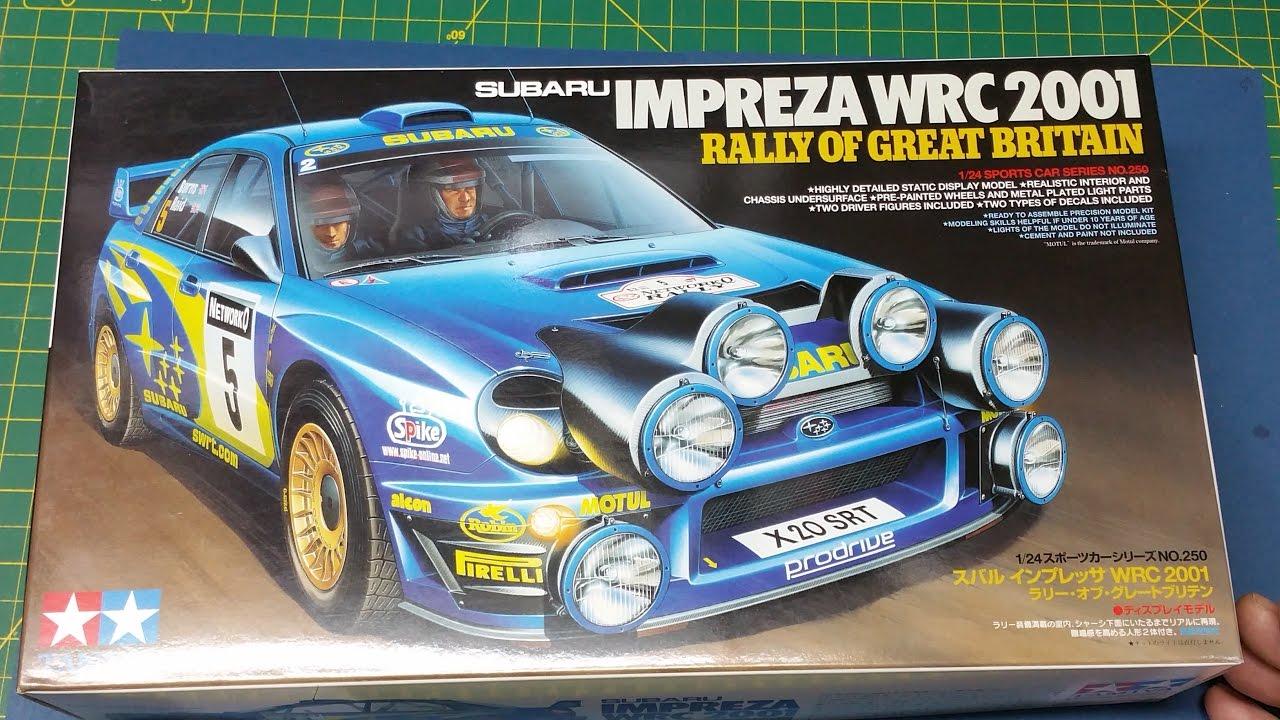 Tamiya Subaru Impreza WRC 2001 Rally Of Great Britain 1:25 What\'s in ...