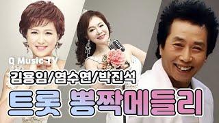 3인의  트롯 뽕짝 메들리 김용임.박진석.염수연