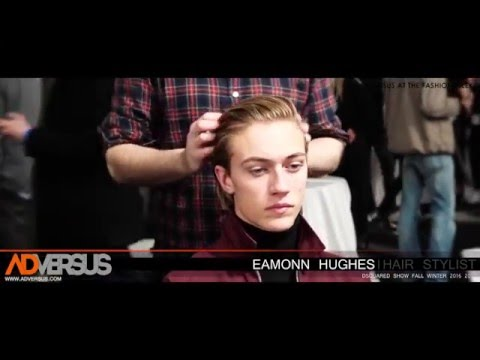 Eamonn Hughes and the hair looks for the Dsquared FW20162017