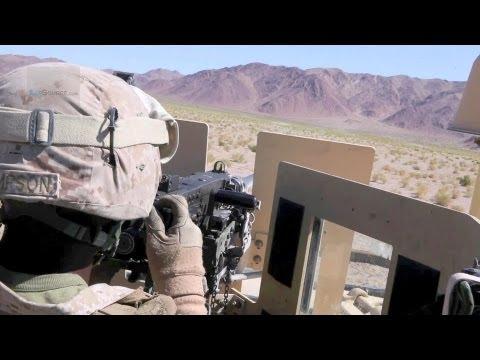 M2 Machine Gun - U.S. Marines Live Fire Training