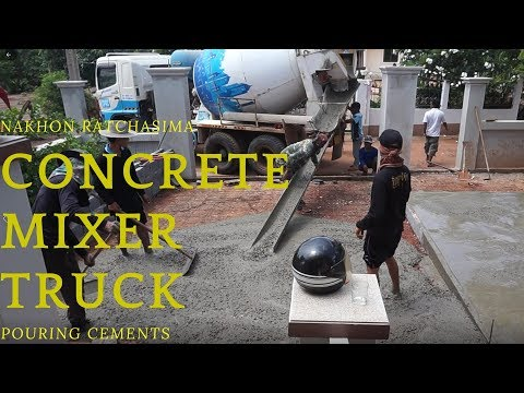Rican Thai Family @ Ban Mai, Nong Bunnak District (โคราช)-Concrete Mixer Truck Pouring Cement
