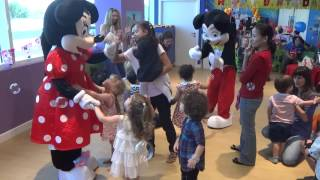 Olivia 3rd Birthday Party - bubbles & Minnie & Mickey Mouse