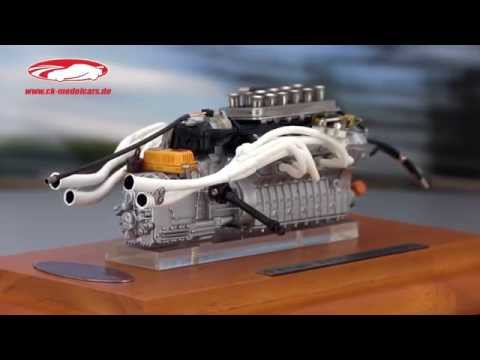 Ck Modelcars Video Ferrari 312p Engine Aggregate And Showcase 1969