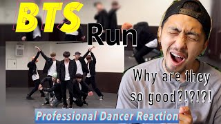 BTS 방탄소년단 RUN Dance practice Professional Dancer Reacts
