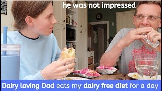 Dad eats my diet for a day