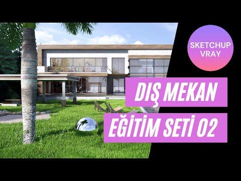 Sketchup Dış Mekan Villa Modelleme Vray RENDER 02