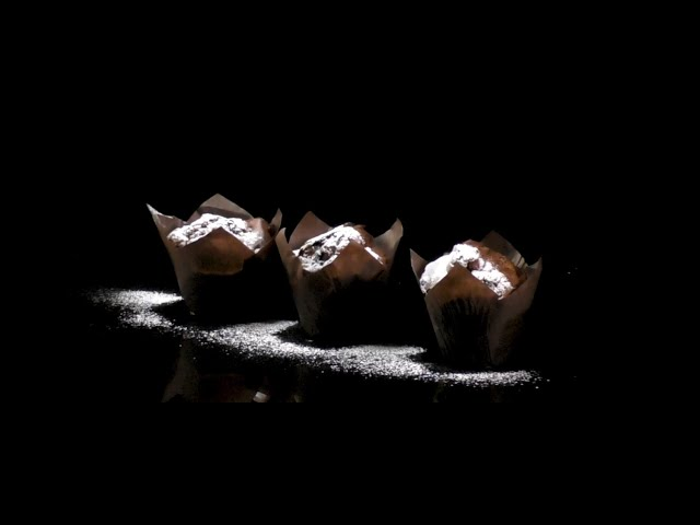 Muffin ai mirtilli, lamponi e cioccolato Noalya