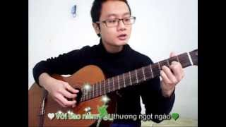 """Bài hát """"khuc giao mùa"""" clip đánh đàn guitar của sinh viên"""