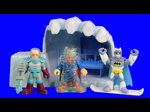 Imaginext Mr. Freeze & Cave Frozen Superman Batman & Fisher Price Robot Robin Saves The Day