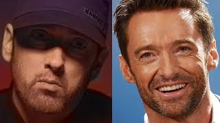 Hugh Jackman is listening to track Greatest  from Eminem's album Kamikaze during his workout session