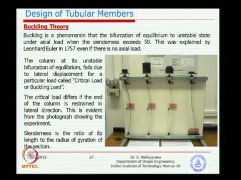 Mod-03 Lec-02 Steel Tubular Member Design - 2