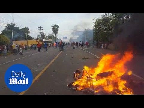 Fresh government protests across Nicaragua lead to more violence - Daily Mail