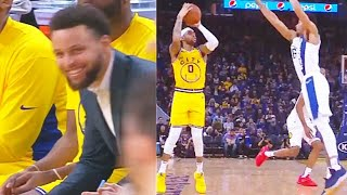 Stephen Curry Impressed By D'Angelo Russell's Crazy 3 Point Shooting! Warriors vs Pacers