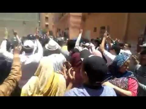 القوات الامنية تستعمل القوة لفك معتصم تخليد اربعينية إستشهاد  صيكا ابراهيم