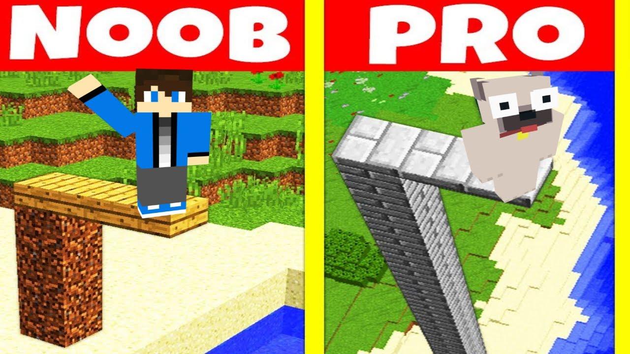 NOOB VS PRO VIDEÓS MEDENCE A MINECRAFTBAN!