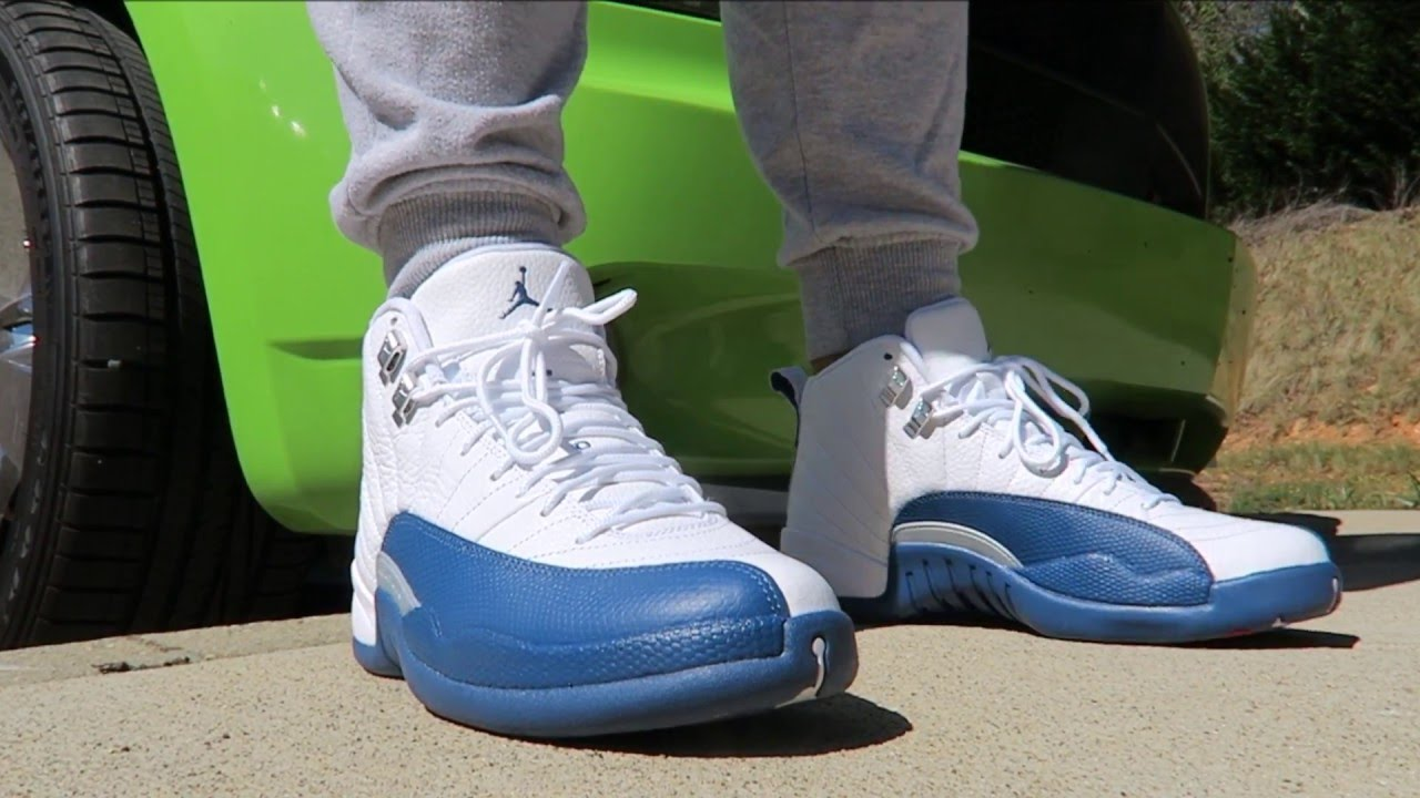 b2b24a4318412c ... norway air jordan 12 french blue retro sneaker on feet quality control  rant youtube 6ef8b 006f0
