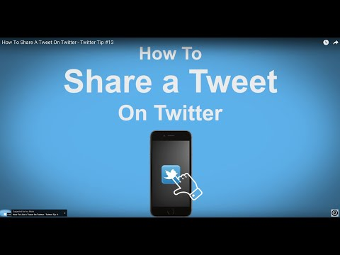 How To Share A Tweet On Twitter- Twitter Tip #13