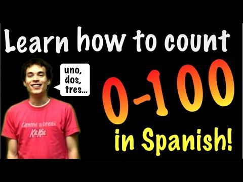Learn Spanish - Count from 0 to 100!