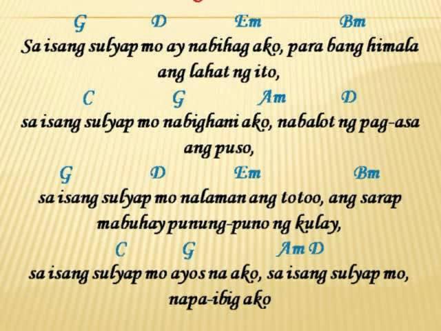 Sa Isang Sulyap Mo Lyrics & Guitar Chords By; Jkevin.mp4 Chords ...