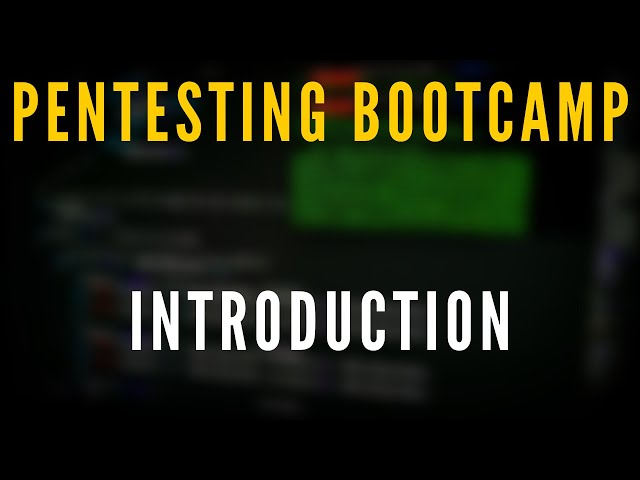 Penetration Testing Bootcamp - Introduction