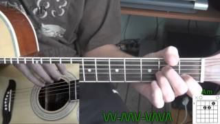 Иван Дорн   Стыцамэн Видео урок на гитаре для начинающих  Без Баррэ