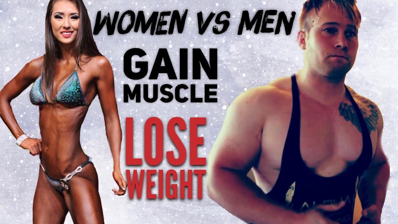Muscle women vs men