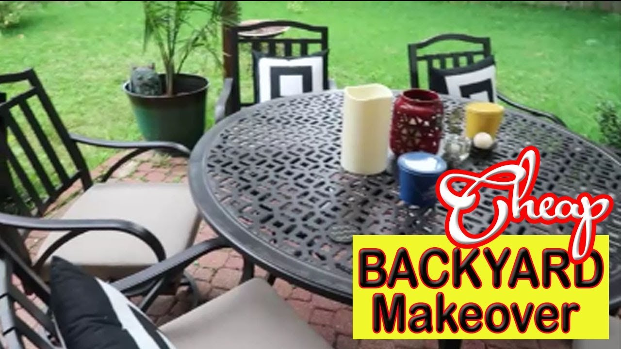 CHEAP Backyard Makeover On a Budget - How to Create the ... on Diy Backyard Patio Cheap  id=30046