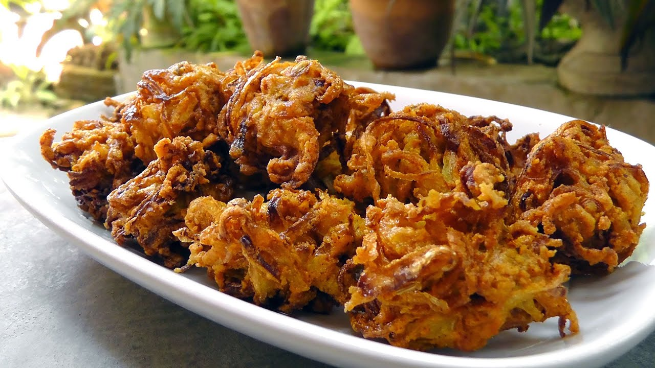 Indian onion bhaji vegan vegetarian recipe youtube forumfinder Images