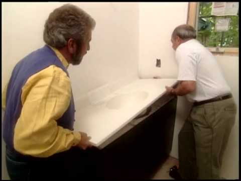 Solid-Surface Bathroom Vanity Top Installation