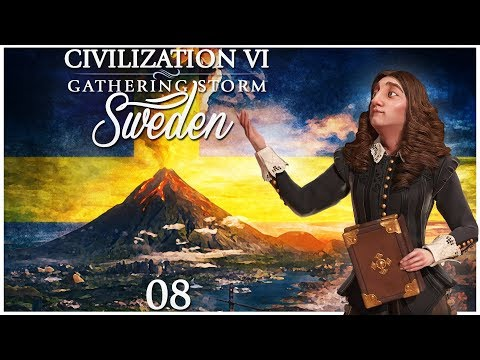 Civilization 6 - Gathering Storm Pre-Release as Sweden - Episode 8 ...Saving Stockholm...