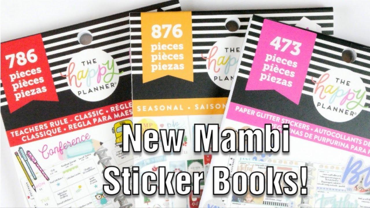 NEW Happy Planner Sticker Books | Seasonal | Teachers Rule | Paper Glitter