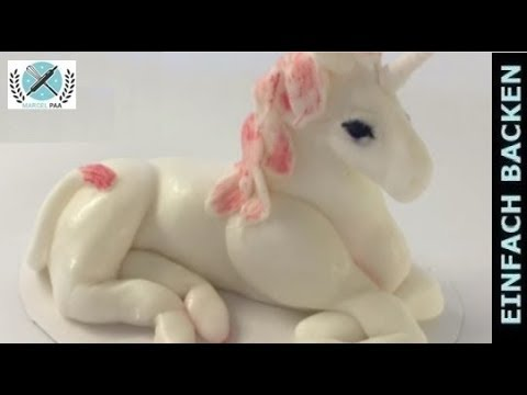 einhorn aus fondant unicorn fondant modelling i einfach backen marcel paa youtube. Black Bedroom Furniture Sets. Home Design Ideas
