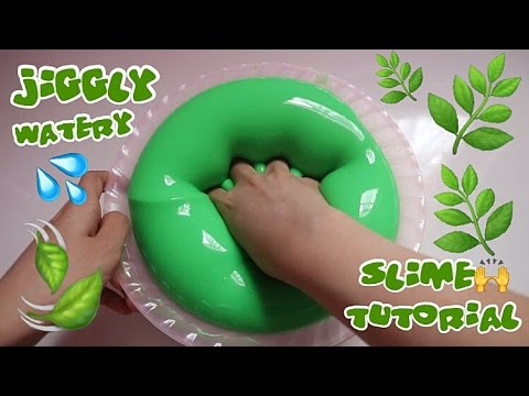JIGGLY WATERY BLEBERBLEBER SLIME TUTORIAL WITH MIX GLUE - SUPER FUN TO PLAY BHS INDONESIA
