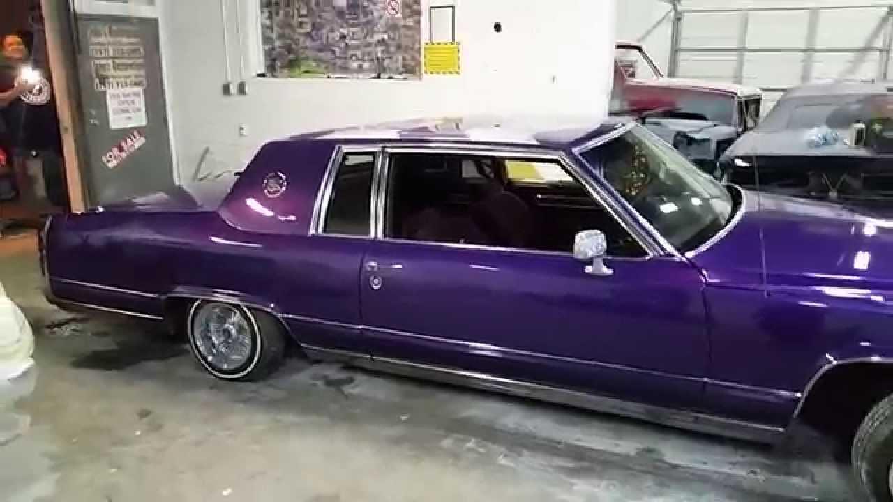Purple Lowrider Caddy Coupe / John's Restoration - YouTube