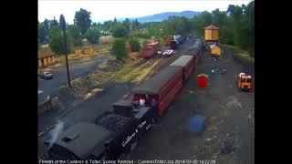 7/5/2018car train 215 arrives into Chama, NM