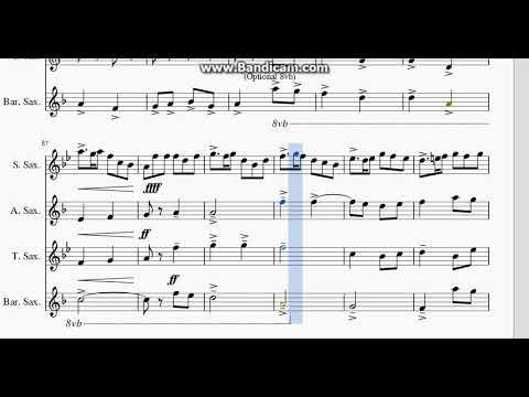 English Folk Songs Suite Sax Quartet (most recent Ver)