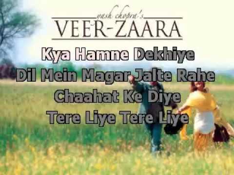 YouTube   Tere Liye Veer ZaaraKaraoke With Lyrics