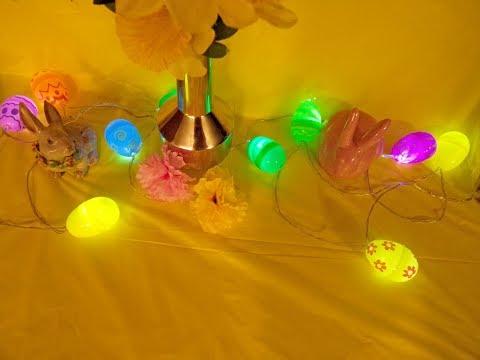 DOLLAR TREE / EASTER EGG String Lights Diy🐇🌸